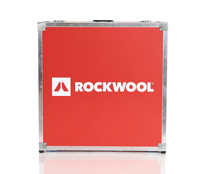 Flightcase med Rockwool Logo