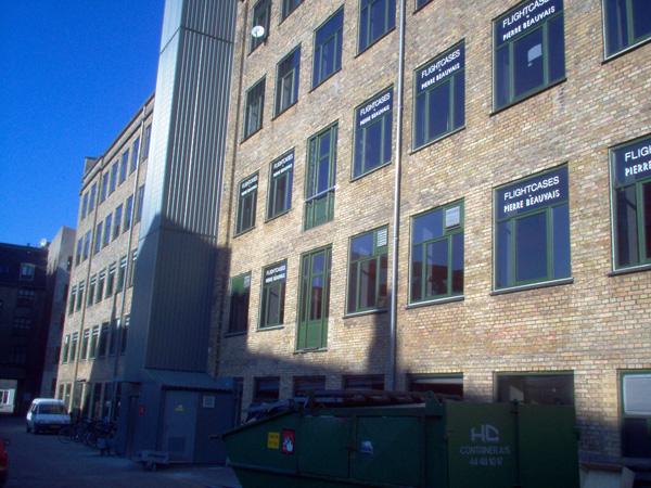 Flightcases Fabrik i det centrale København fra  1984 - 1996