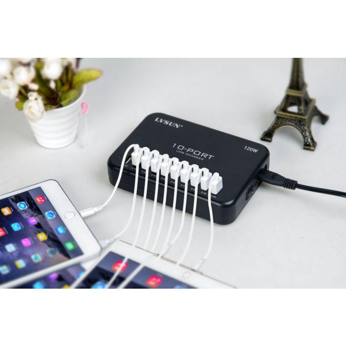 USB-oplader Smart 10 -port