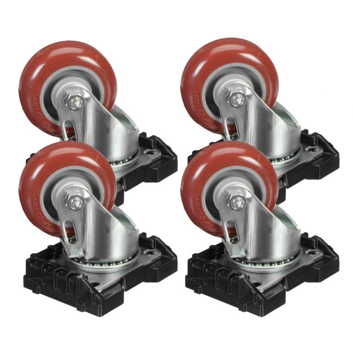 Peli Cube Case Mobility Package - Steel Casters Kit for Cube 0350 and 0370 Cases