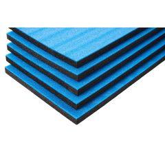 Multilayer Foam med blå top (800x450x30 mm)