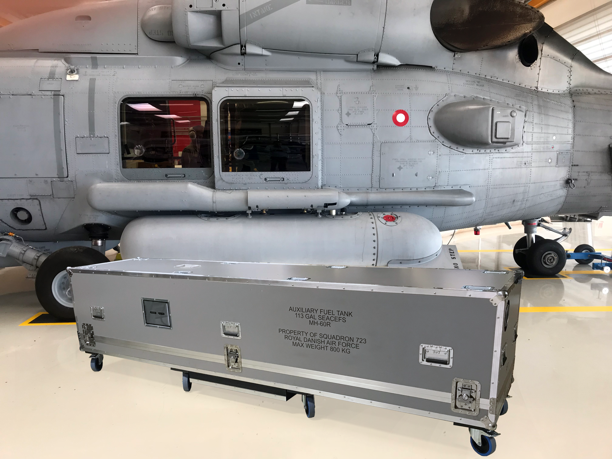 Specialbygget Flightcase for SEAHAWK fuel tank