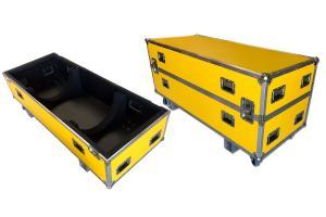Flightcase Yellow Formica, Stainless steel