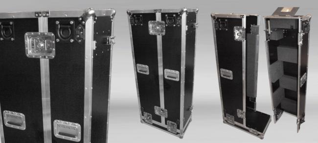 Custom made flightcase in staniless steel