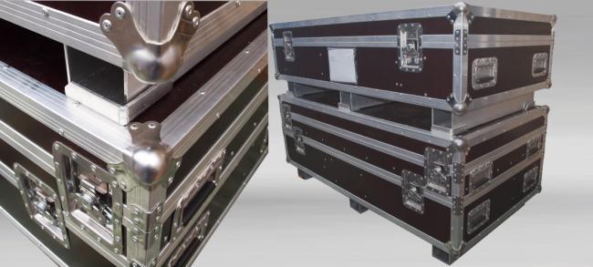 Custom made flightcase with fittings in staniless steel