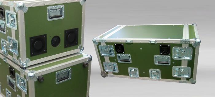 Custom made flightcase for military equipment
