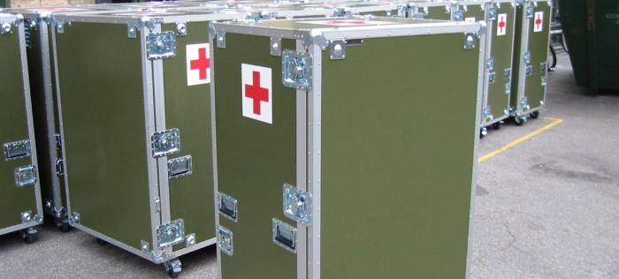 Custom made flightcase for military