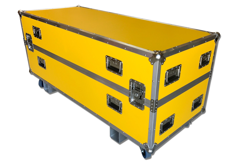 Custom Flightcase i Gul Formica