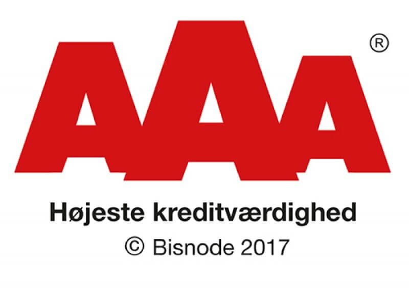 AAA Rating fra Soliditet - Flightcases International A/S