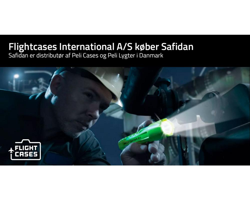 Flightcases International A/S køber Safidan – der er distributør af Peli Cases og Peli Lygter i Danmark