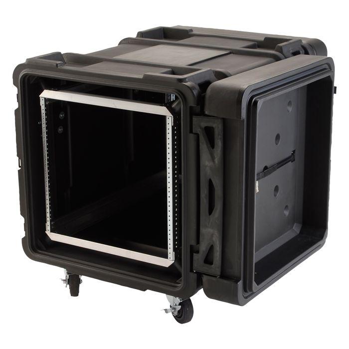 SKB 10U Roto Shockmount Rack Case, 4 Wheel - 28