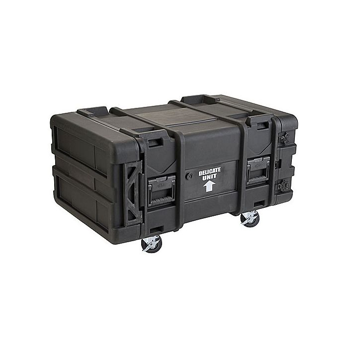 SKB 6U Roto Shockmount Rack Case, 4 Wheel - 30