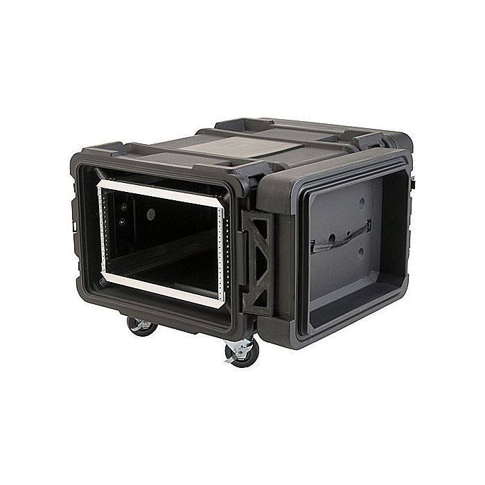 SKB 8U Roto Shockmount Rack Case, 4 Wheel - 30