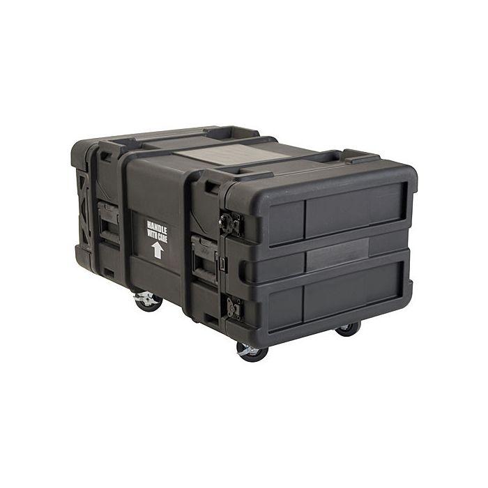 SKB 6U Roto Shockmount Rack Case, 4 Wheel - 28