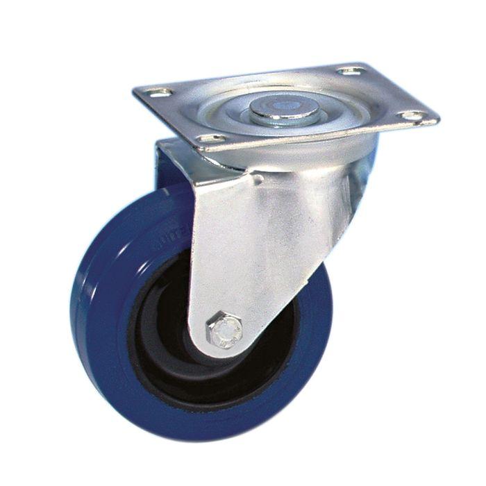 Swivel Castor 100 mm with blue Wheel