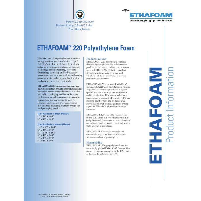 Ethafoam 5 mm, 2.750x600x5mm