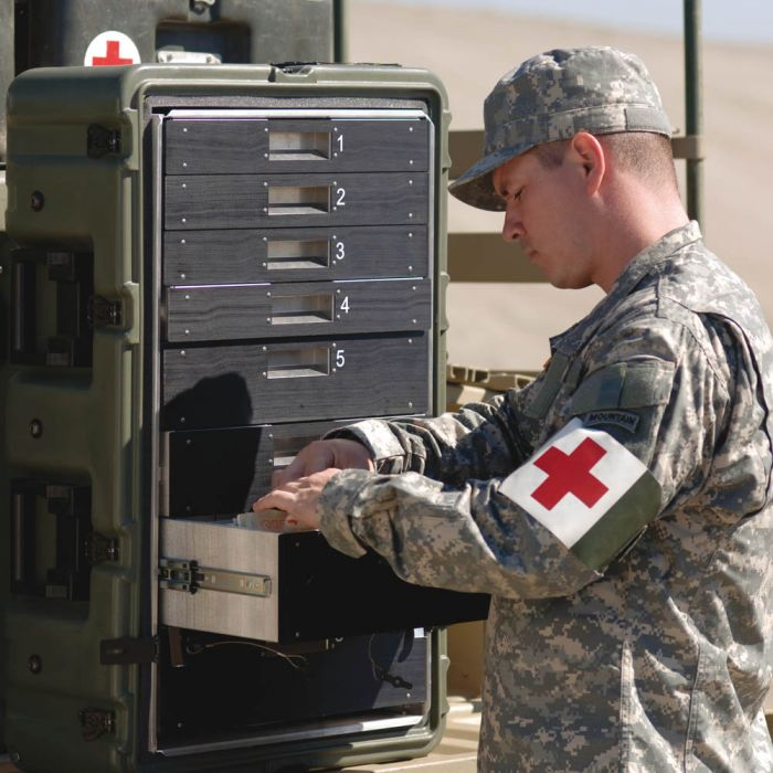 Peli MC8100 Medchest 8 Drawer for Emergency Response Supplies