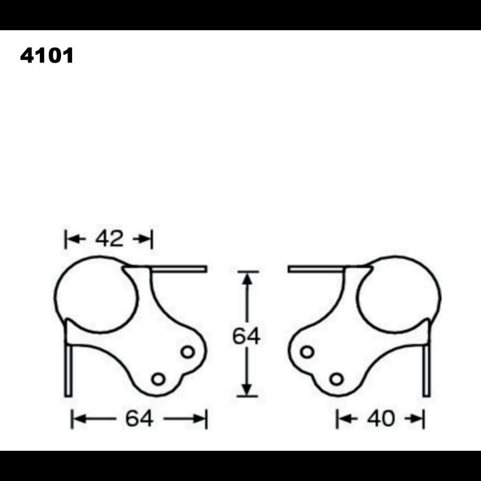 Stort Kuglehjørne - 3 ben, 6 nitter