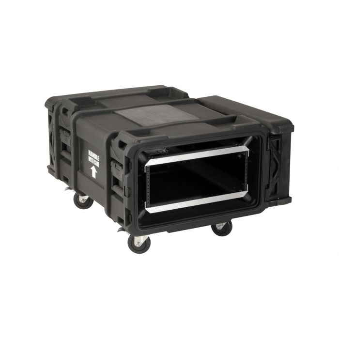 SKB 4U Roto Shockmount Rack Case, 4 Wheel - 30