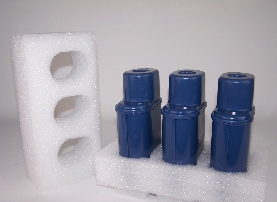 Stødabsorberende og beskyttende skumpolstring i PE Stratocell