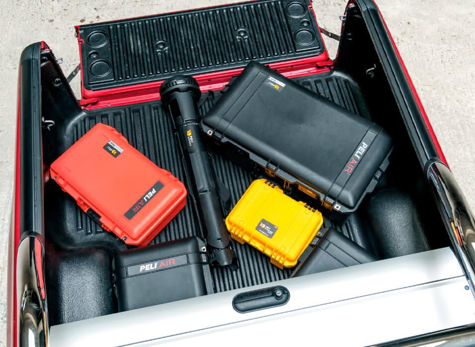Med de nye Peli Air Cases kan du reducere vægten med op til 40 % i forhold til andre vandtætte cases