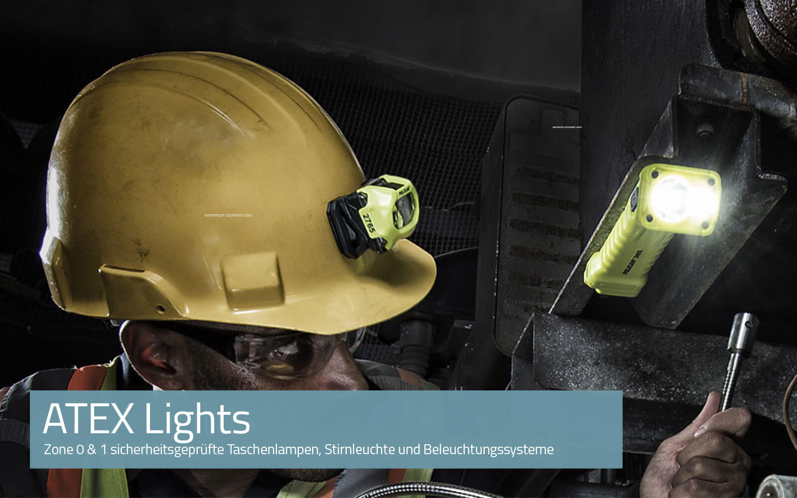 Zone 0 & 1 safety approved torches, headlamps and lighting systems. Compliant to ATEX Directive 2014/34/EU