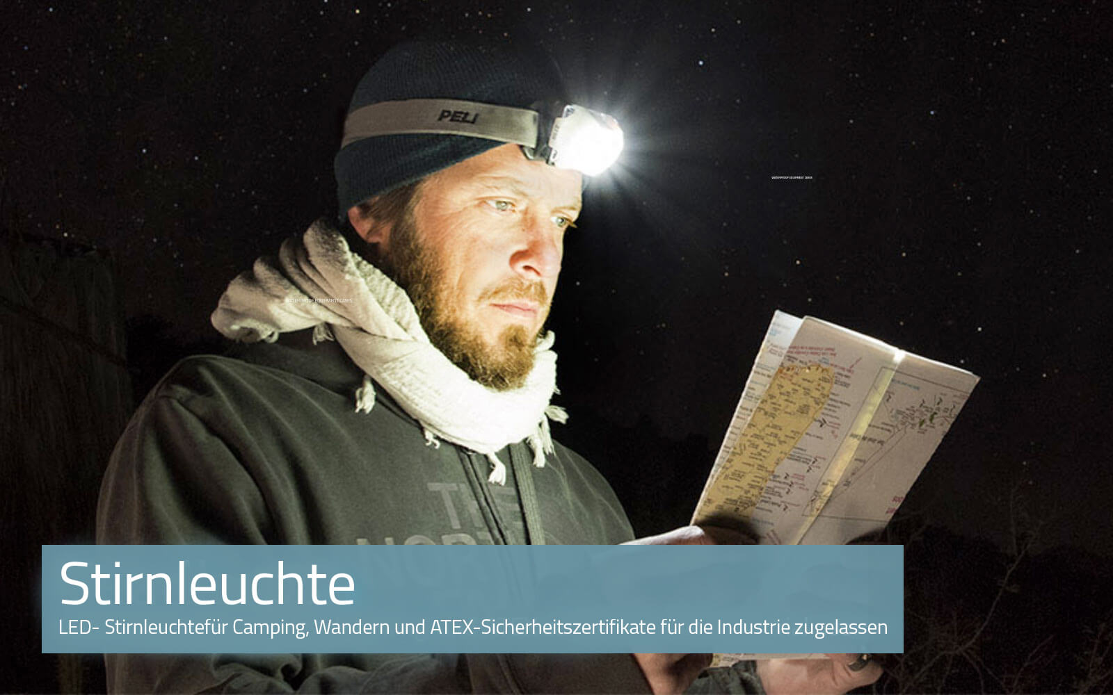 LED headlamps for camping, hiking, and ATEX safety-certified industrial use.